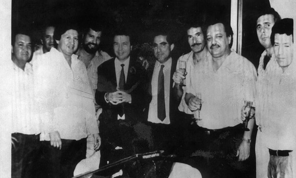 miguel rodríguez orejuela with his partners