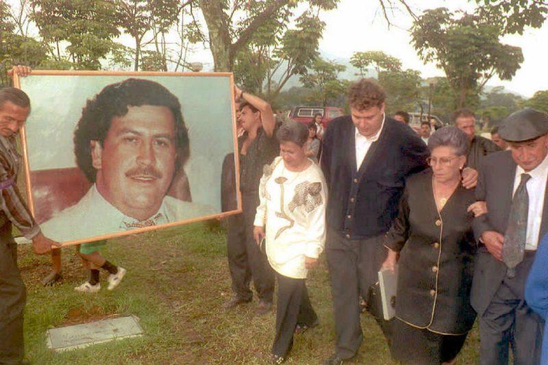 pablo escobar's funeral
