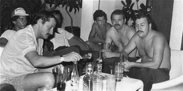 Gustavo Gaviria with Pablo Escobar